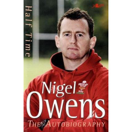 Half Time: My Autobiography - Nigel Owens-Book-The Welsh Gift Shop
