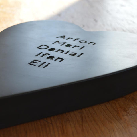 Chunky Heart - Welsh Slate - Personalised