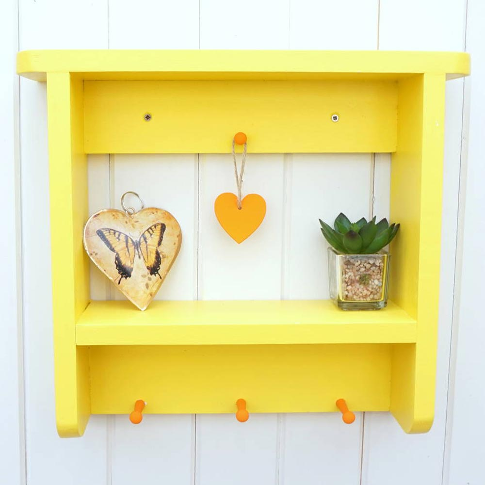 Country Cottage Wall Shelf - Welsh - Your Colour-Furniture-The Welsh Gift Shop