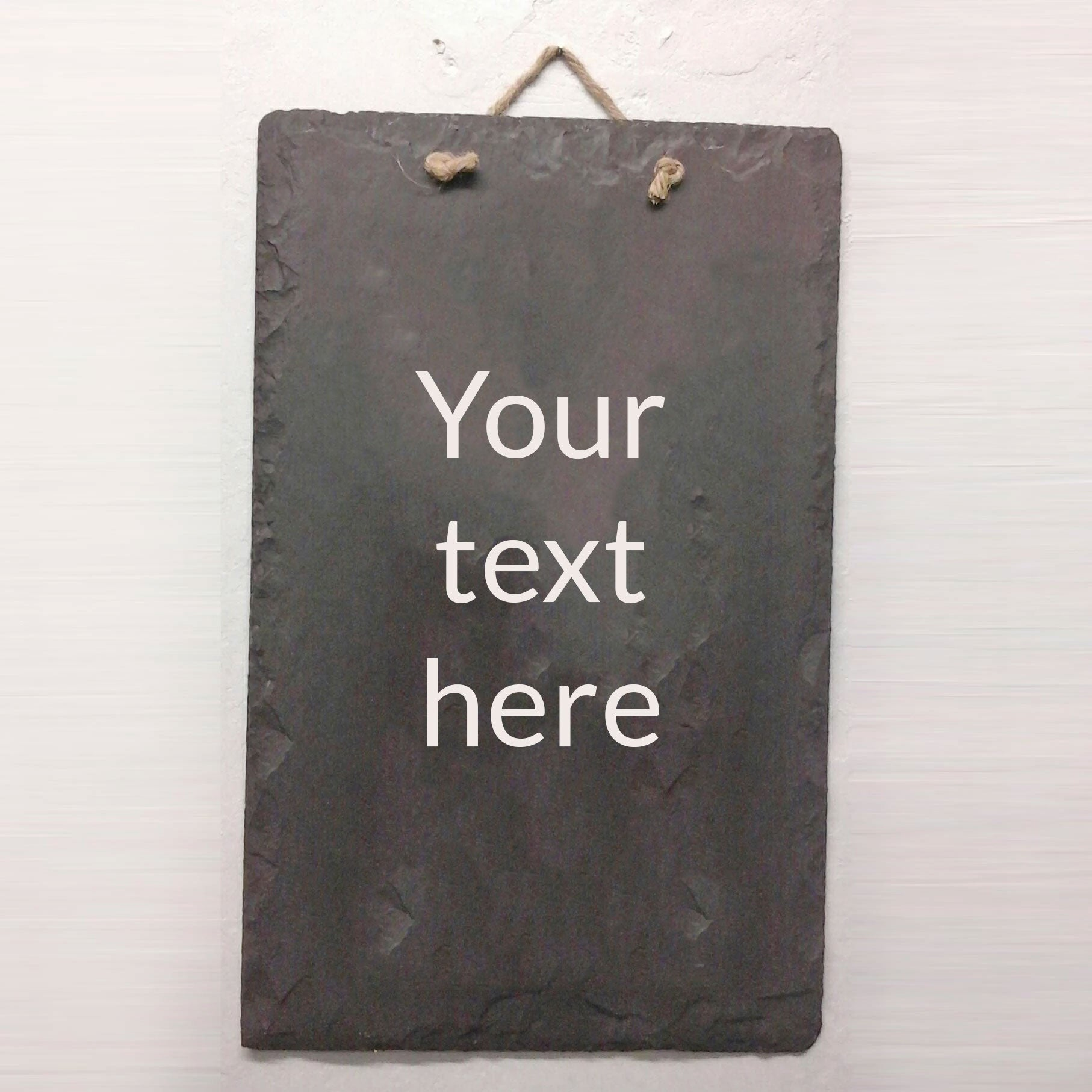 Plaque / Sign - Welsh Slate - Personalised