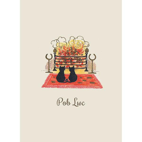 Card - Pob Lwc - Good Luck - Cats-Card-The Welsh Gift Shop