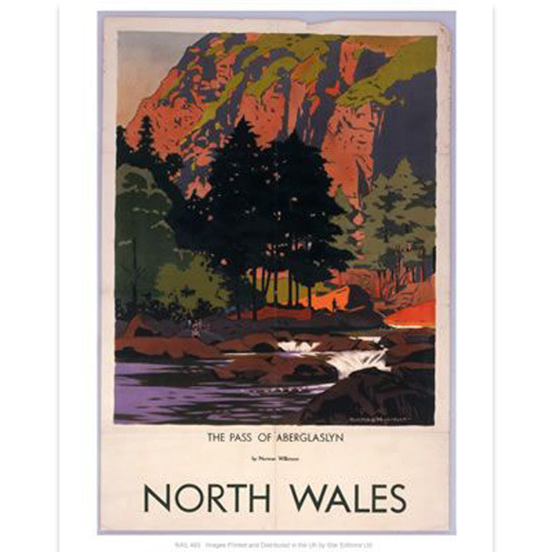 Poster / Print - Vintage Railway Travel - North Wales