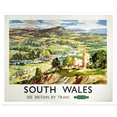 Poster / Print - Vintage Railway Travel - South Wales