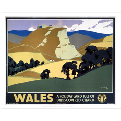 Poster / Print - Vintage - Wales Undiscovered Charm