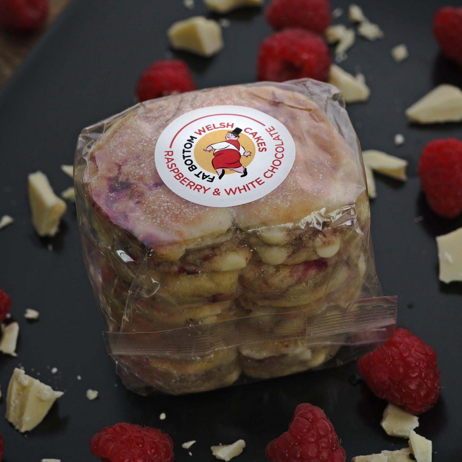 Welsh Cakes - Fat Bottom - Raspberry & White Chocolate (1st Class Postage Included)