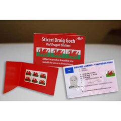 Red Dragon Stickers - For Your Driving License