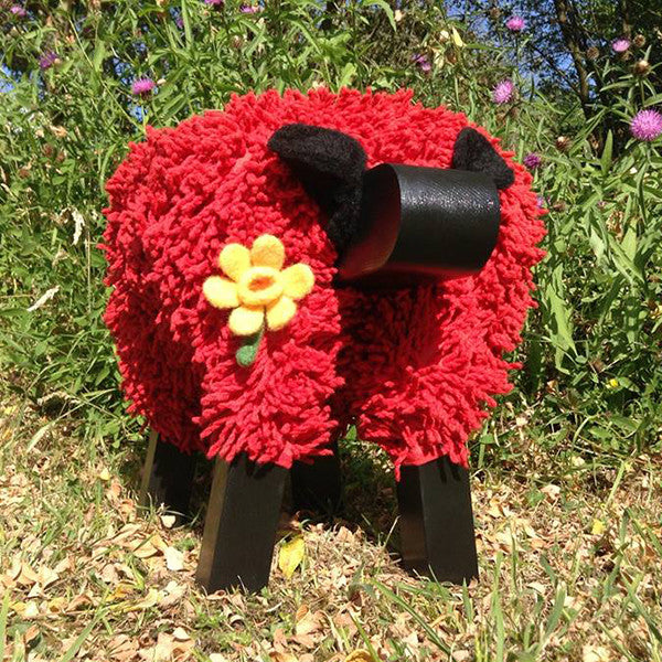 Foot Rest - Welsh Sheep - Welsh Red Edition-Accessory-The Welsh Gift Shop