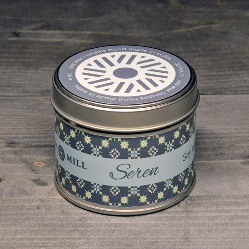 Soy Candle Tin - Handmade - Star / Seren