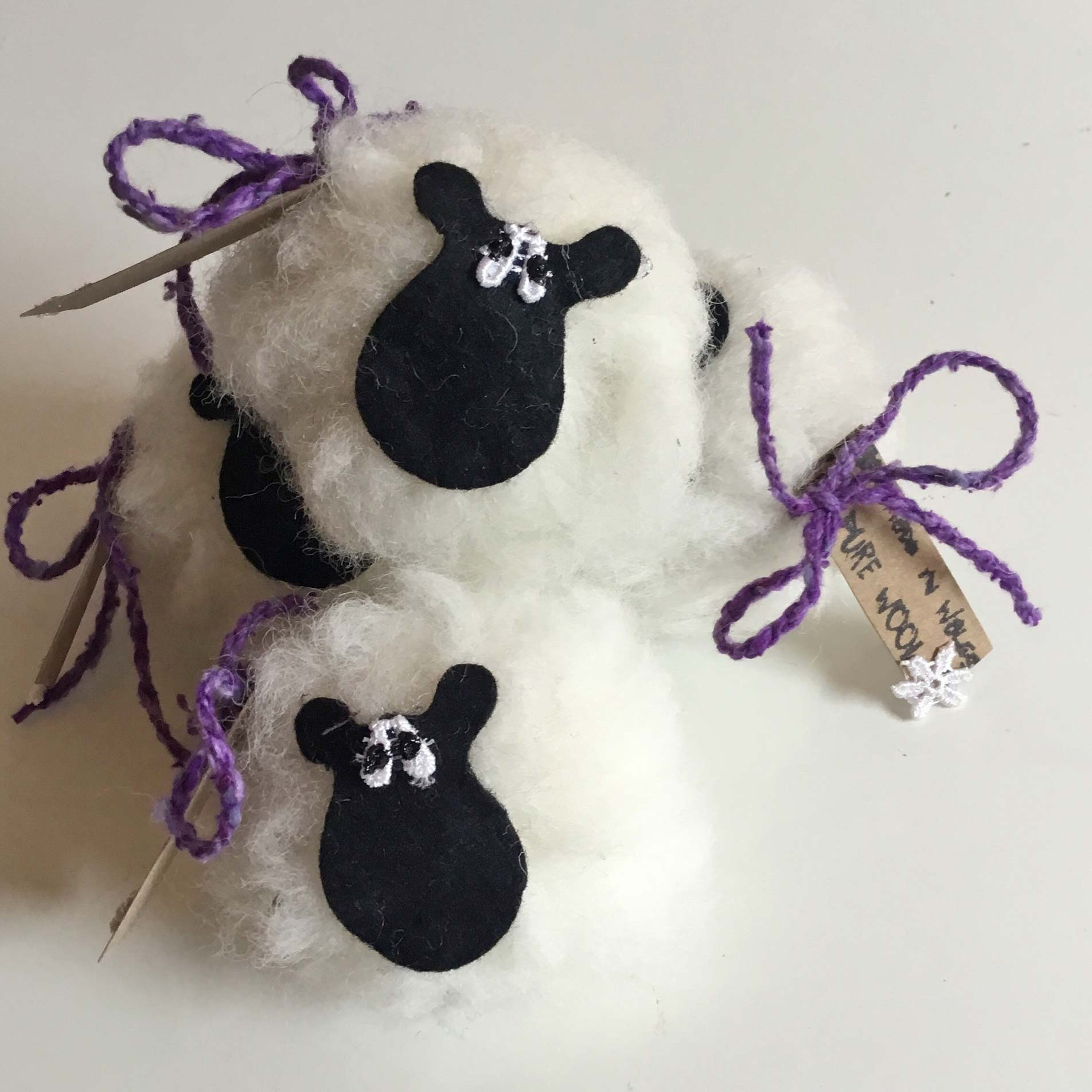 Sheep - Pure Wool - Lavender-The Welsh Gift Shop