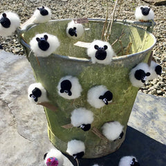 Magnet - Sheep - Pure Wool-The Welsh Gift Shop