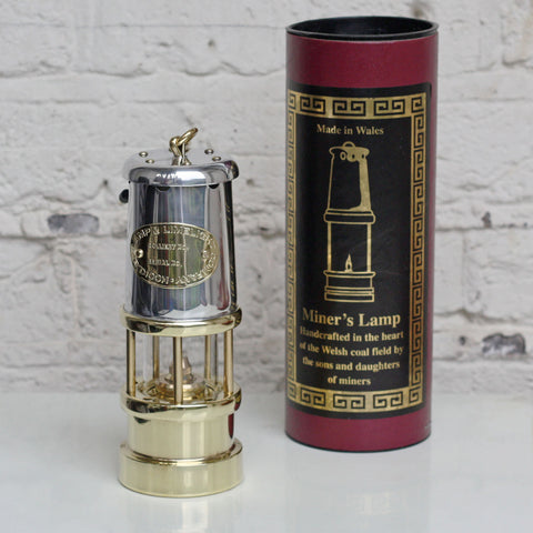 Miner's Lamp - Traditional - Nickel & Brass