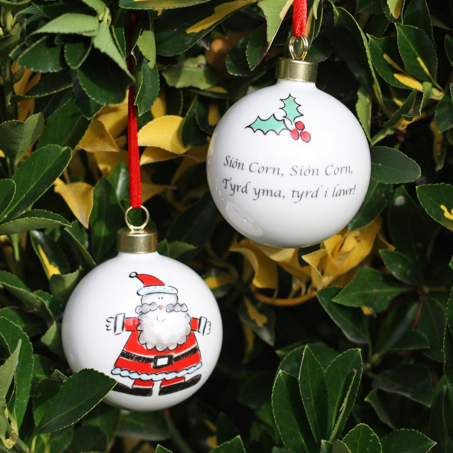 Christmas Bauble / Decoration - Sion Corn - Santa