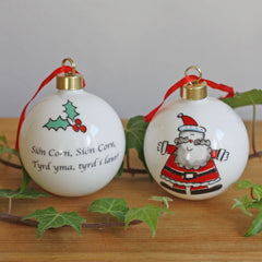 Christmas Bauble / Decoration - Sion Corn - Santa-The Welsh Gift Shop