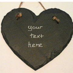 Welsh Slate Heart - Personalised-The Welsh Gift Shop