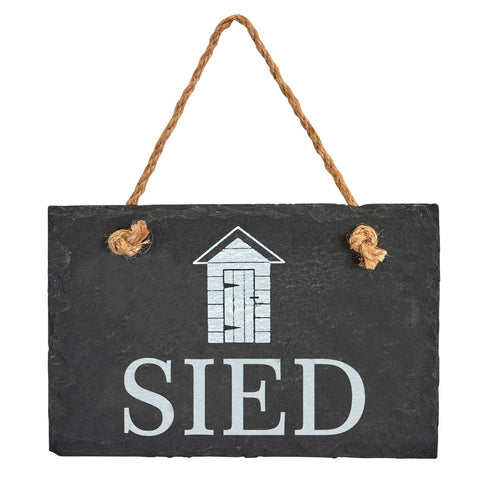 Slate Hanging Sign - Sied - Shed