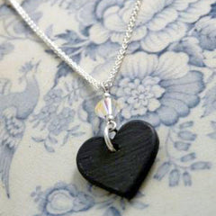 Necklace - Welsh Slate - Cariad / Love-Jewellery-The Welsh Gift Shop