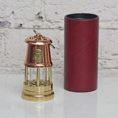 Miner's Lamp - Small - Copper & Brass-The Welsh Gift Shop