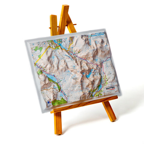 Raised Relief Map - Snowdon Summit - A4-Picture / SIgn-The Welsh Gift Shop