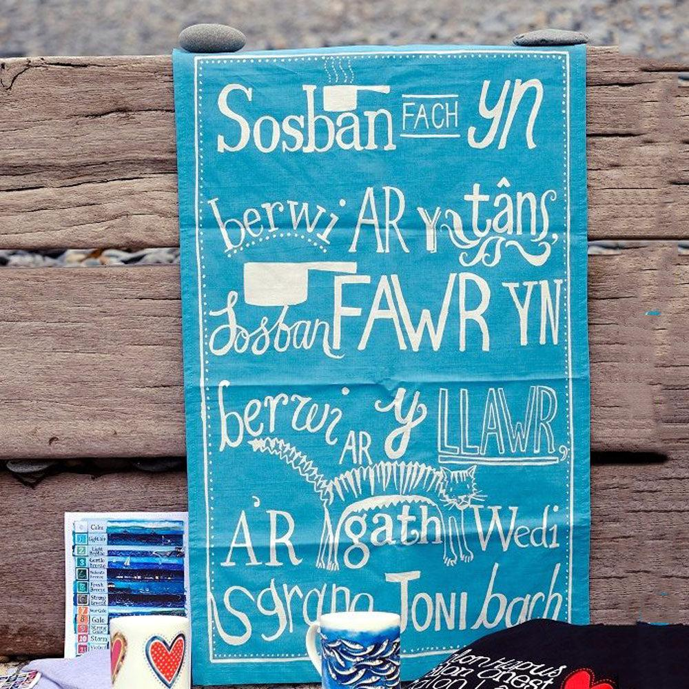 Tea Towel - Sospan Fach-Tea Towel-The Welsh Gift Shop