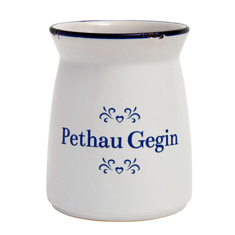Container - Blue & White Ceramic - Pethau Gegin - Kitchen Stuff