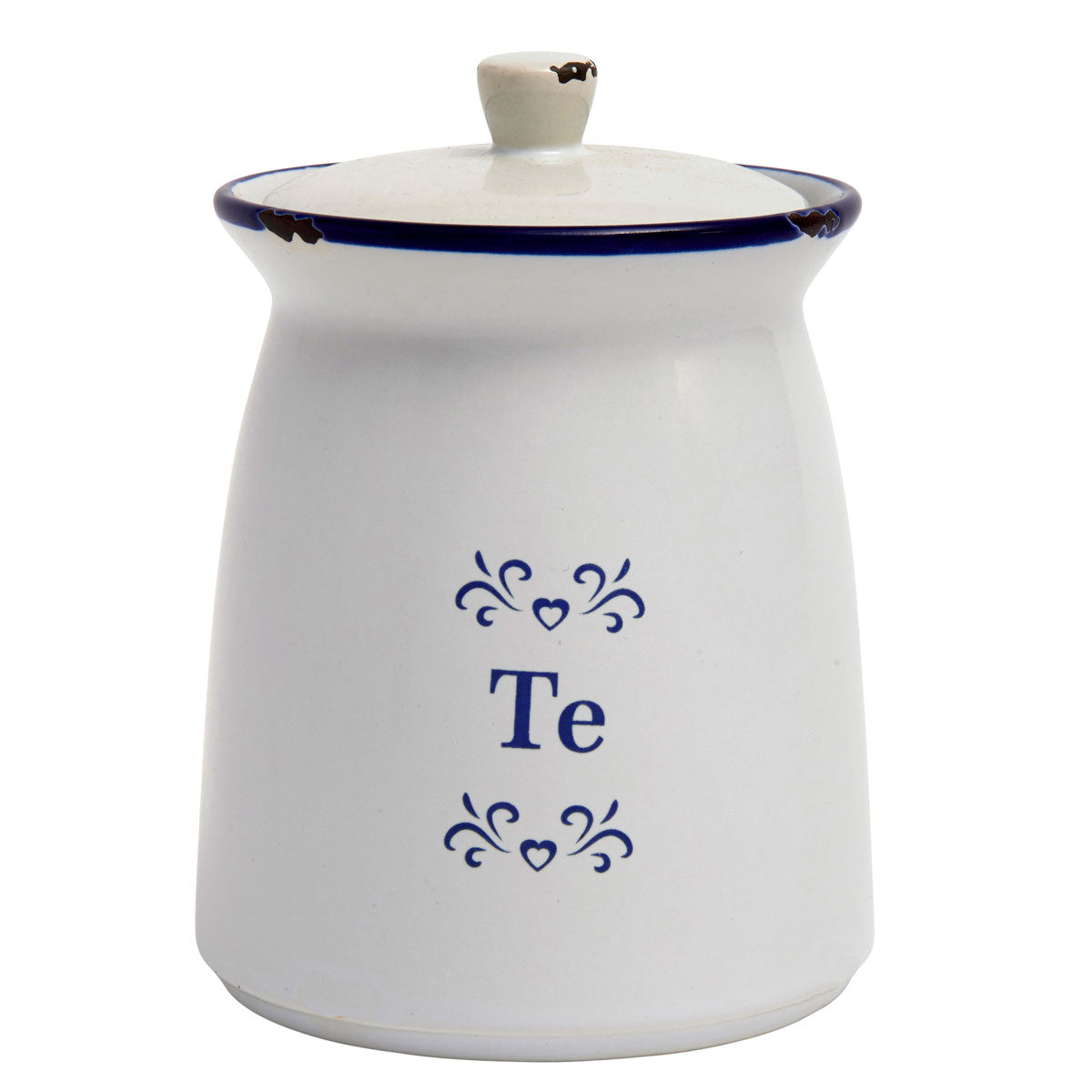 Storage Jar - Blue & White Ceramic - Te - Tea