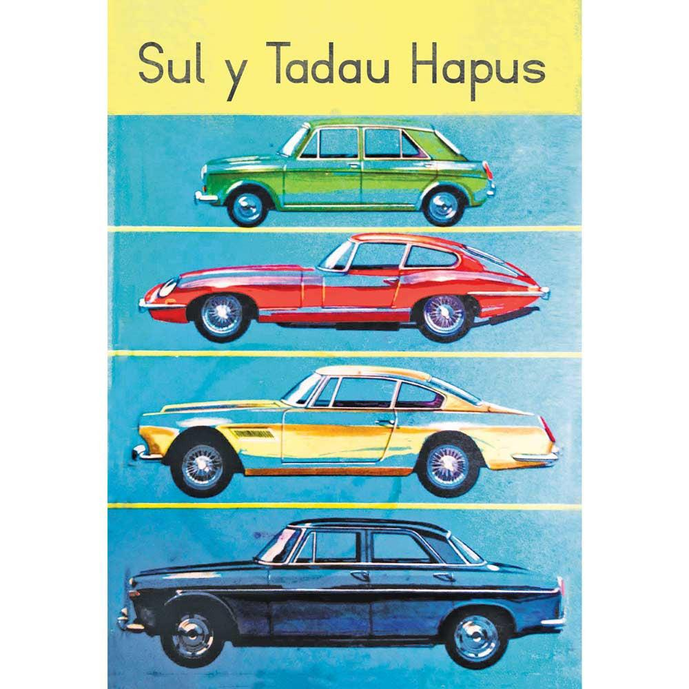 Card - Father's Day - Sul y Tadau Hapus - Cars-Card-The Welsh Gift Shop