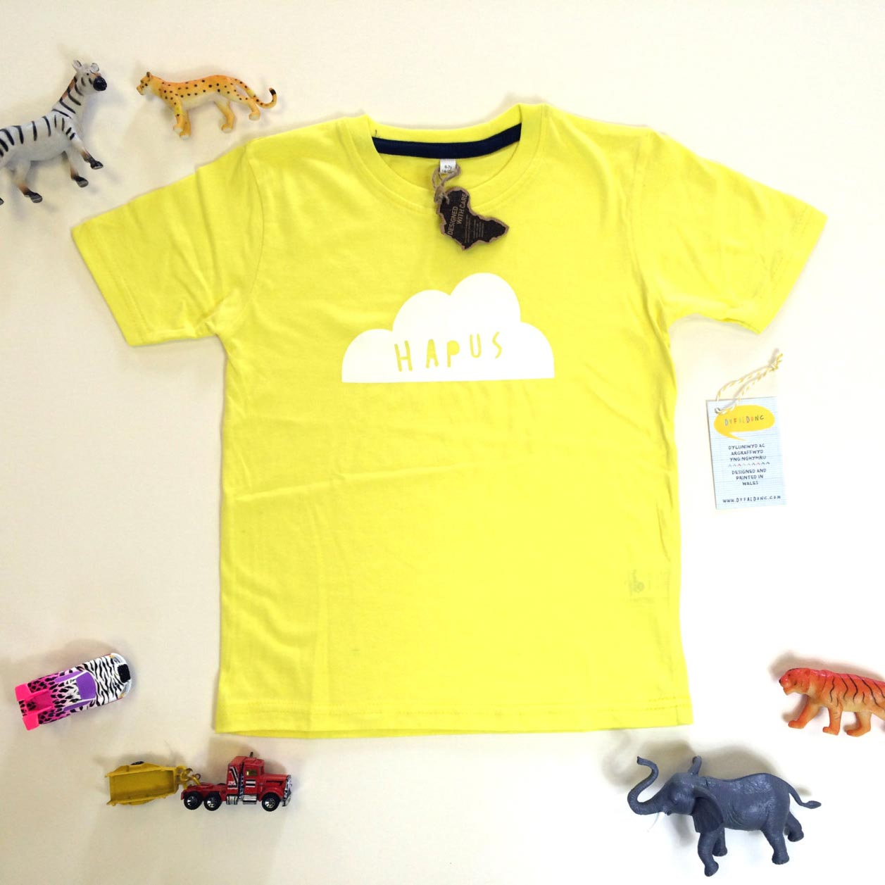 T-shirt - Baby / Toddler - Happy - Hapus - Yellow