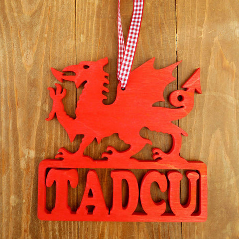 Decoration / Plaque - Dragon - Dadcu / Tadcu - Grandad