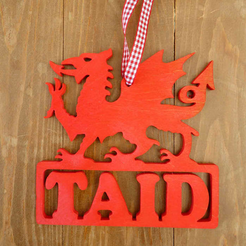 Decoration / Plaque - Dragon - Taid - Grandad