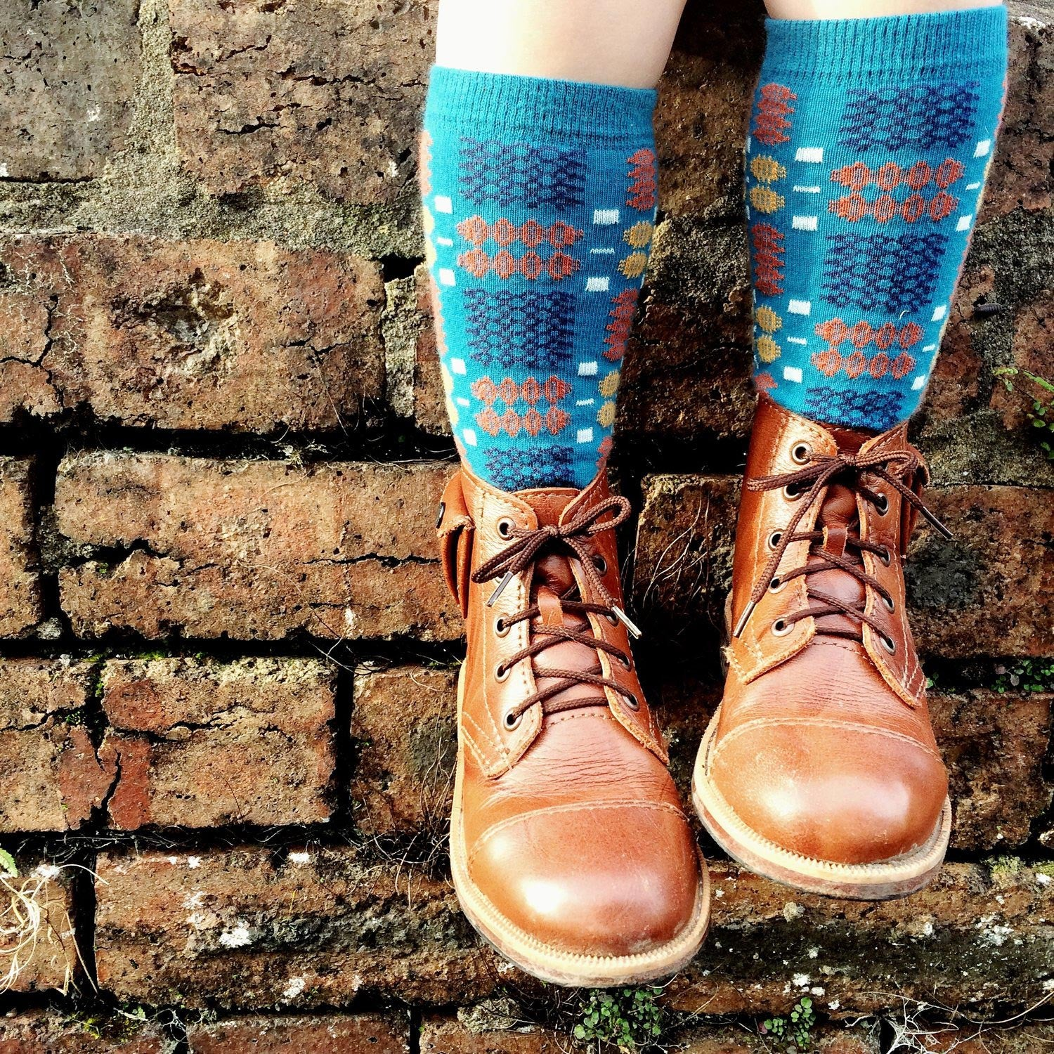 Knee High Socks - Tapestry - Children's - Blue