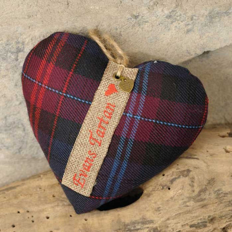 Heart - Welsh Family Name Tartan - Surname-Accessory-The Welsh Gift Shop