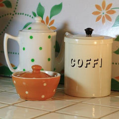 Te, Coffi Or Siwgr Tin - Vintage Style-Kitchen-The Welsh Gift Shop