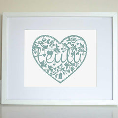 Print - Teulu - Family-Picture / SIgn-The Welsh Gift Shop