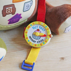 Tic Toc! Amser Cinio - Meal Time Watch Book-The Welsh Gift Shop