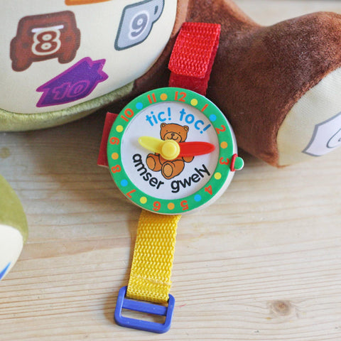 Tic Toc! Amser Gwely - Bed Time Watch Book-The Welsh Gift Shop