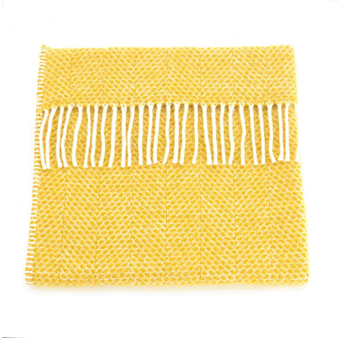 Baby Pram Blanket - New Wool - Beehive Yellow