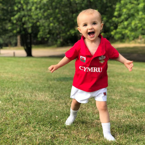 Welsh Rugby Kit - Cymru - 100% Cotton - Toddler / Child
