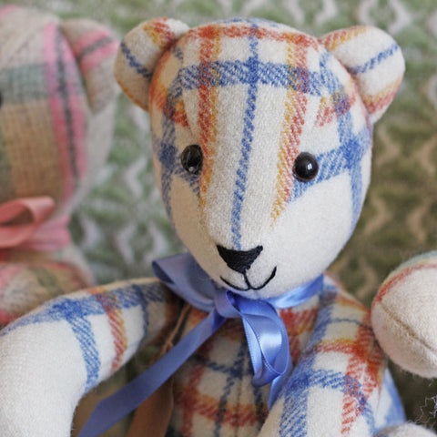 Teddy Bear - Vintage Welsh Blanket - Small