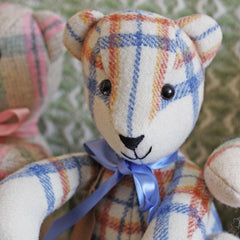 Teddy Bear - Vintage Welsh Blanket - Small-Accessory-The Welsh Gift Shop