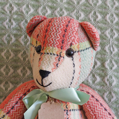 Teddy Bear - Vintage Welsh Blanket - Large