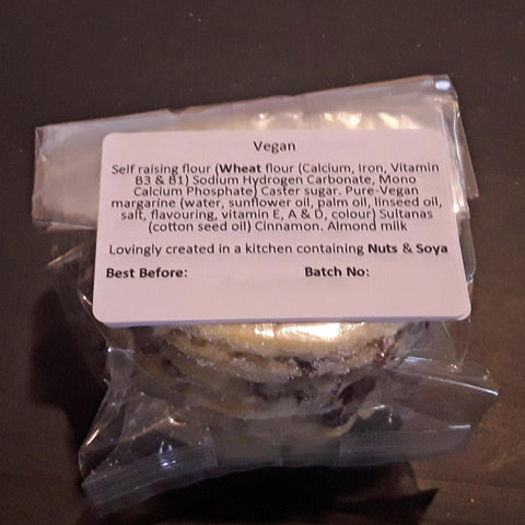 Welsh Cakes - Fat Bottom - Vegan (1st Class Postage Included)
