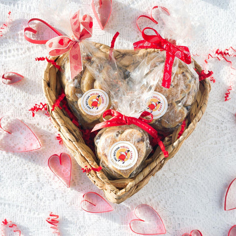Heart Hamper - Fat Bottom - Welsh Cake Hearts - Postage Included