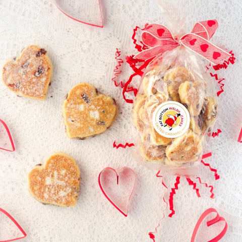 Welsh Cake Hearts - Fat Bottom - Bag of 14 (Postage included)
