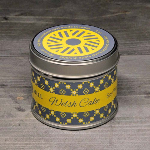 Soy Candle Tin - Handmade - Welsh Cakes