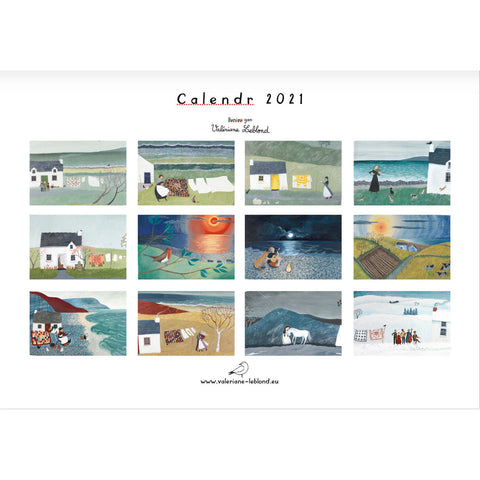 Welsh calendar - 2021 - illustrated by Valériane Leblond PREORDER
