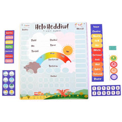 Calendar - Helo Heddiw! Daily Welsh Language Magnetic Chart