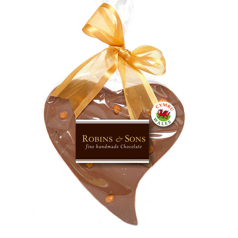 Chocolate Heart - Handmade in Wales - Salted Caramel Milk