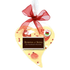 Chocolate Heart - Handmade in Wales - Very Berry White