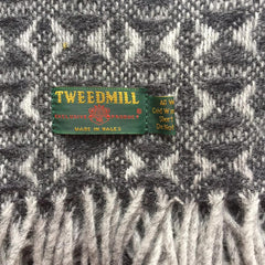 Throw / Blanket - New Wool - Welsh Cobweave - Slate Grey