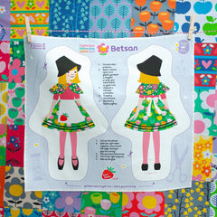 Welsh Doll - Cut and Sew - Little Welsh Girl - Betsan